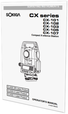 MANUAL DE USUARIO ESTACION TOTAL SOKKIA CX-103