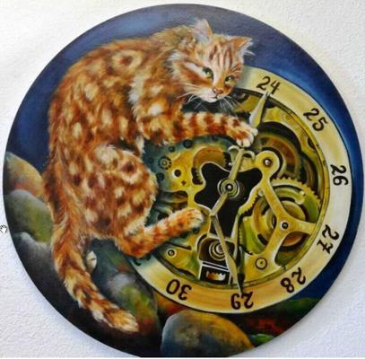 Fuer Rotary Club, Il arrête le temps...il vit à présent...et vous? 60cm, coté par art.net