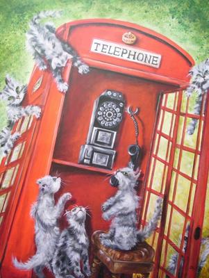 Anruf aus London 70x90