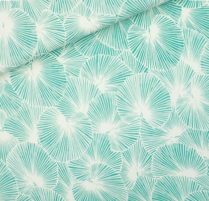 Fan Leaves -Sea Salt White