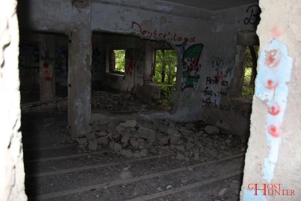 Der Blick nach außen im Erdgeschoss. #Ghosthunters #paranormal #ghosts #geister