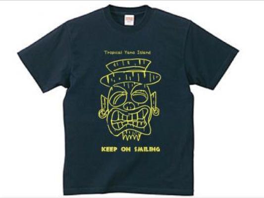 Keep on smiling 自画像TIKI Tシャツ