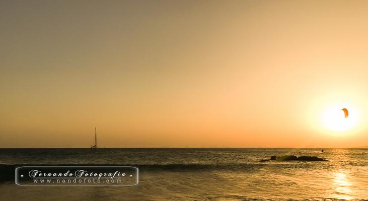 Atardecer en Tarifa, playa de Los Lances