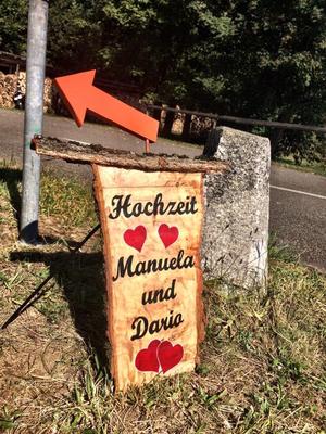 Ama Cilurzo Sängerin Hochzeitssängerin Kartause Ittingen St.Gallen Wil Schweiz Anzeige Tafel für Hochzeit