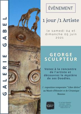 Un jour/un artiste, George, rencontre avec l'artiste, Galerie Gabel , Biot