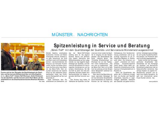 Spitzeleistung in Service und Qualität