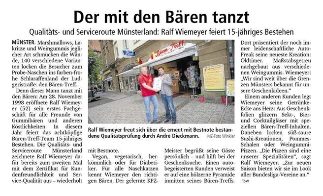2 Auszeichnung für den Bären-Treff aus Münster
