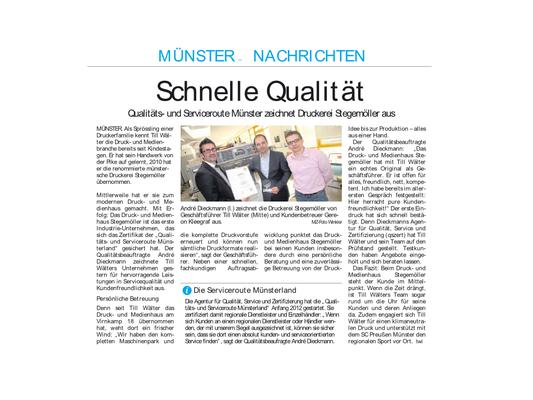 druck- und medienhaus stegemöller Auszeichnung