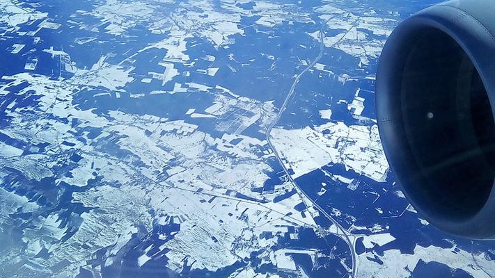 Schneelandschaft Frankreich