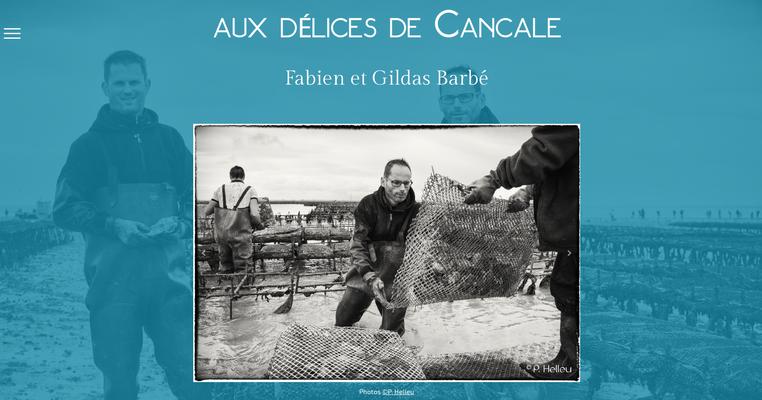 Site internet Aux Délices de Cancale - Huîtres Barbé