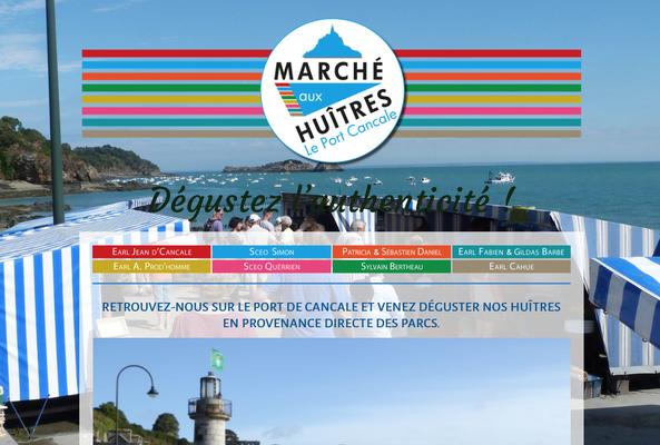 Site internet Marché aux Huîtres Cancale