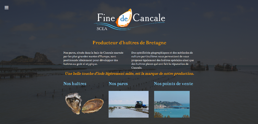 Site internet La Fine de Cancale
