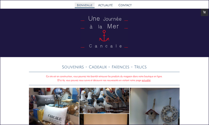 Site internet Une Journée à la Mer Cancale