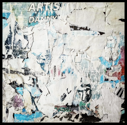 Artistas, décollage, 27 x 27,8 cm, 2019