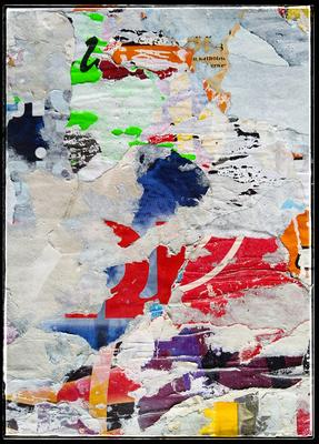 Luja, décollage, 30,7 x 22,3 cm, 2020