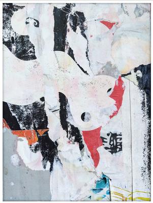 Lindo, décollage, 16,2 x 12,1 cm, 2019
