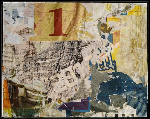 1, décollage, 28 x 34,5 cm, 2019