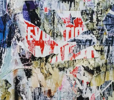 Evotion, décollage, 33 x 37,8 cm, 2018
