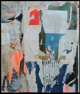 Django, décollage, 13,3 x 10,4 cm, 2020