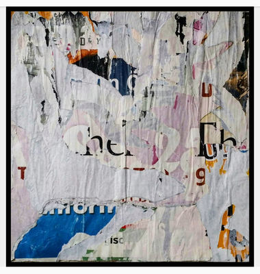 Dorgo, décollage, 44 x 43 cm, 2019