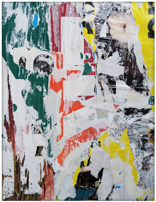 Kryger, décollage, 27,4 x 20,8 cm, 2020