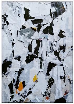 b/w, décollage, 17,9 x 12,7 cm, 2019