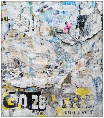 Grindig, décollage, 47,5 x 41,7 cm, 2020