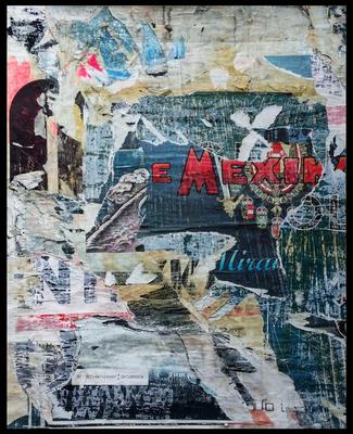 Im Ersten, décollage, 45,6 x 36,4 cm, 2019