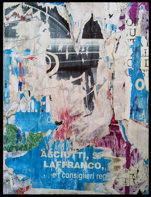 Asciutti, décollage, 53,5 x 40,3 cm, 2020