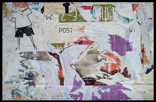 Post, décollage, 40,8 x 62,7 cm, 2020