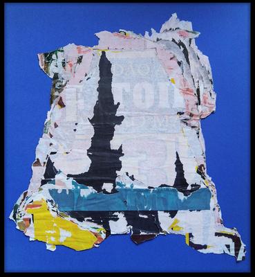 das 3. Siegel, décollage, 44 x 42 cm, 2019
