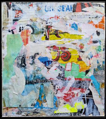 SWAN, décollage, 22,9 x 20,7 cm, 2020