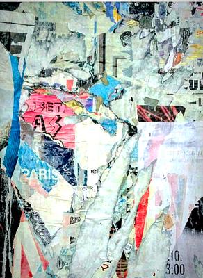Set As, décollage, 45,6 x 33,5 cm, 2018