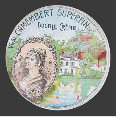 Marie Joly étiquette camembert
