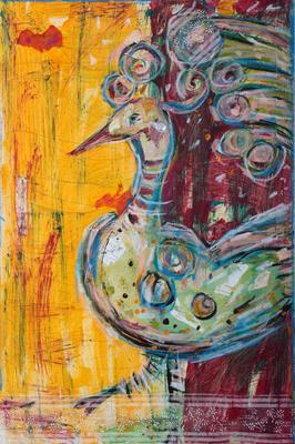 Globetrotter, 67 x 67 cm