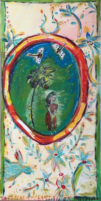 Eva und die Libellen, 90 x 60 cm