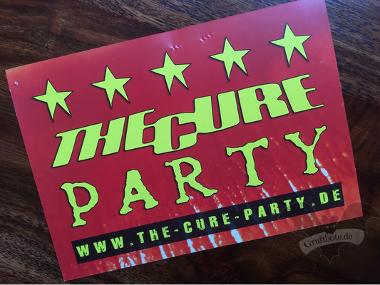 "Flyer ""The-Cure-Party"" / Foto: Batty Blue"