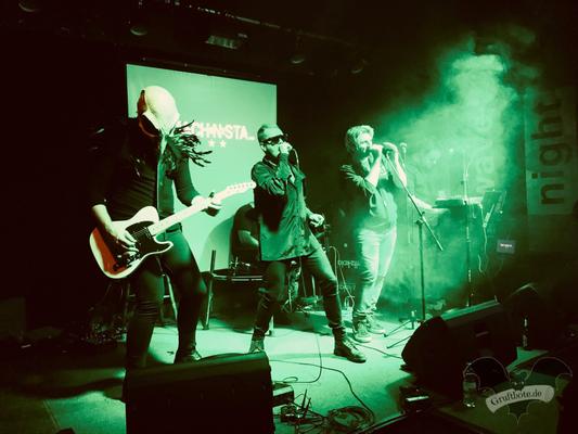 Gemeinsamer Auftritt von Machinista und Scheuber in Hannover, 12. Oktober 2017 / Foto: Dunkelklaus