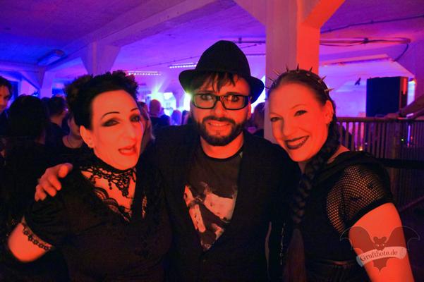 Die Gruftboten mit Dero (Oomph!) auf der Dark Tower Party 7 / Foto: Dunkelklaus