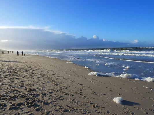 Rauschen in Blau-Sand