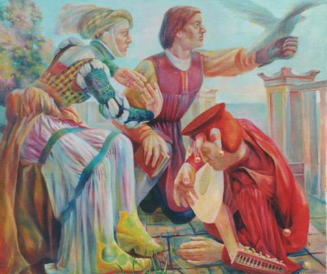 Play of Hands, Vladimir Skripnik, 2001, oil, canvas, 90x100, ID1035
