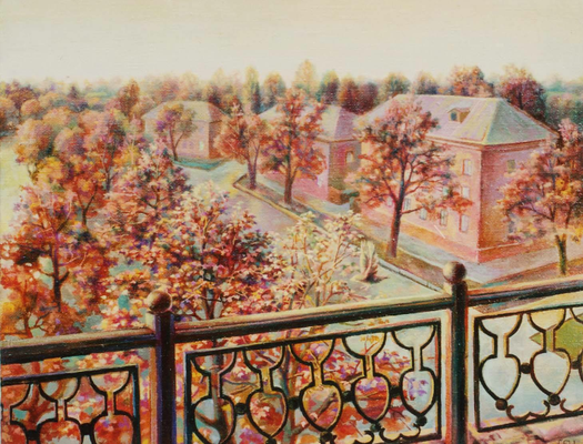 A minute before an evening, Vladimir Skripnik, 2000, oil, canvas, 58x49, ID1025