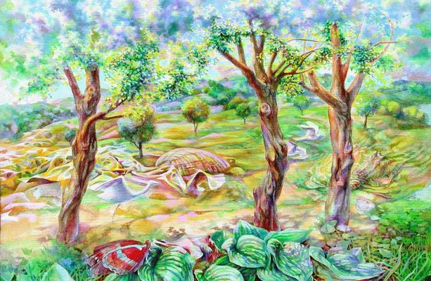 Tanka, Vladimir Skripnik, 2003, oil, canvas, 60x90, ID1099