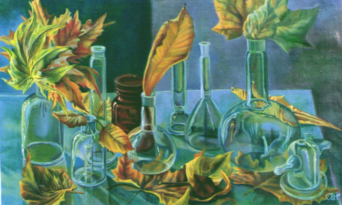 Comparison -1, Vladimir Skripnik, 1992, oil, canvas, 65,5x47, ID1030