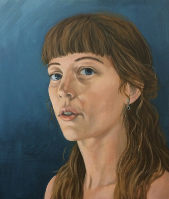 Sebstportrait, 70x60cm, Eitempera auf Leinwand