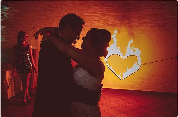 Brennendes Herz, Feuershow Hochzeit Berlin Aaliyah Zhoura