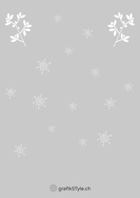 """Postkarte """"Weihnachtsgrüsse"""" Rückseite"""