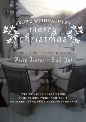 """Postkarte """"Weihnachtsgrüsse"""" Vorderseite"""