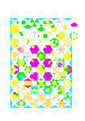 """Und so könnte das Design mit """"The 52 New Hexagon"""" bzw. """"Varia Hex"""" aussehen. Ich zeichne schon am nächsten Entwurf..."""