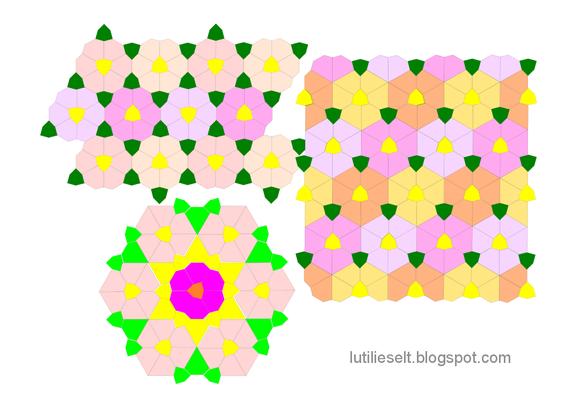 Muster von Dorotheas Blog neu gemischt: Speldenkussens und Bijzondere Zeshoek.